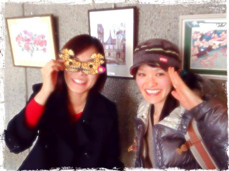 1月の笹平ラボでご一緒した、竹内めぐるさんと松本まきこ 親勉インストラクター