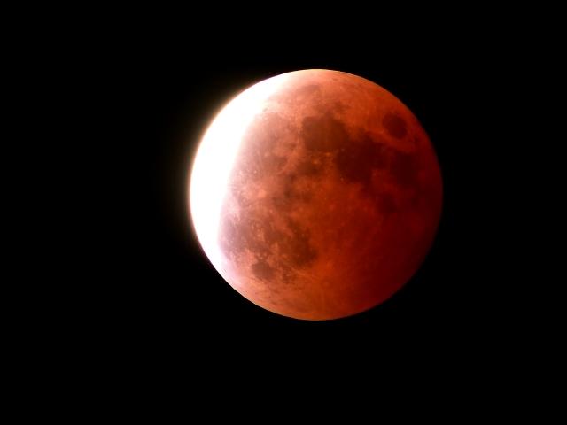 皆既月食、スーパーブルーブラッドムーン2018 サンプル
