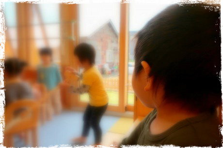 初めての幼稚園参観日。北海道、倶知安、親勉インストラクター松本まきこ