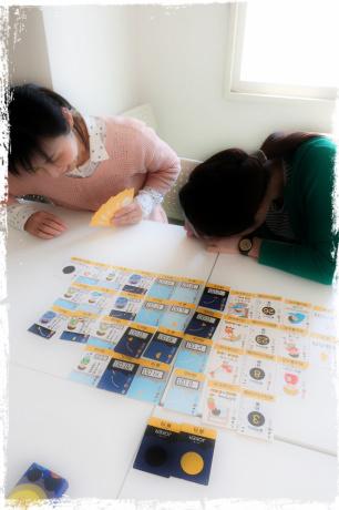 親勉中級講座 in 札幌市、北海道。親勉インストラクター松本まきこ 月の満ち欠けトランプ