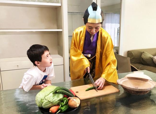 江戸時代の将軍ご飯クッキング、Terakouya Annex(テラコヤアネックス)、食べトレからのサマースクールメニュー。