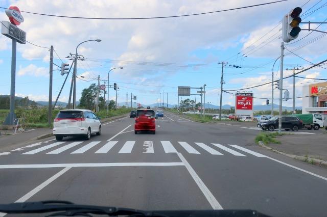 昨日、信号機が止まった北海道倶知安町内の交通の様子。