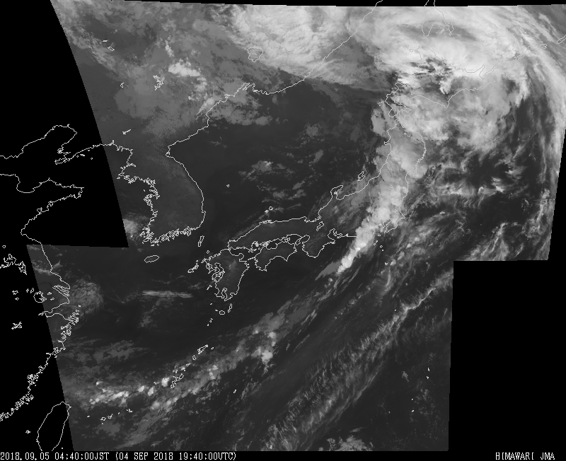台風21号、気象衛星からの写真。気象庁のHPより https://www.jma.go.jp/