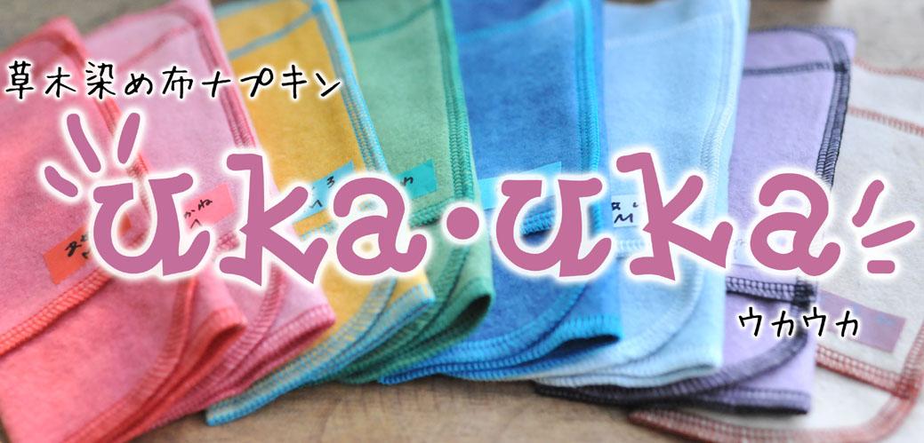 草木染め 布ナプキン ukauka ウカウカ 北海道札幌 食べトレ体験会にて、地球まるごと遊び場に