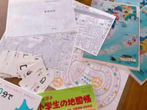 今月の親勉ラボ4月は『地図』をテーマに遊びます。北海道札幌・倶知安 親勉インストラクター松本まきこ 地球まるごと遊び場に