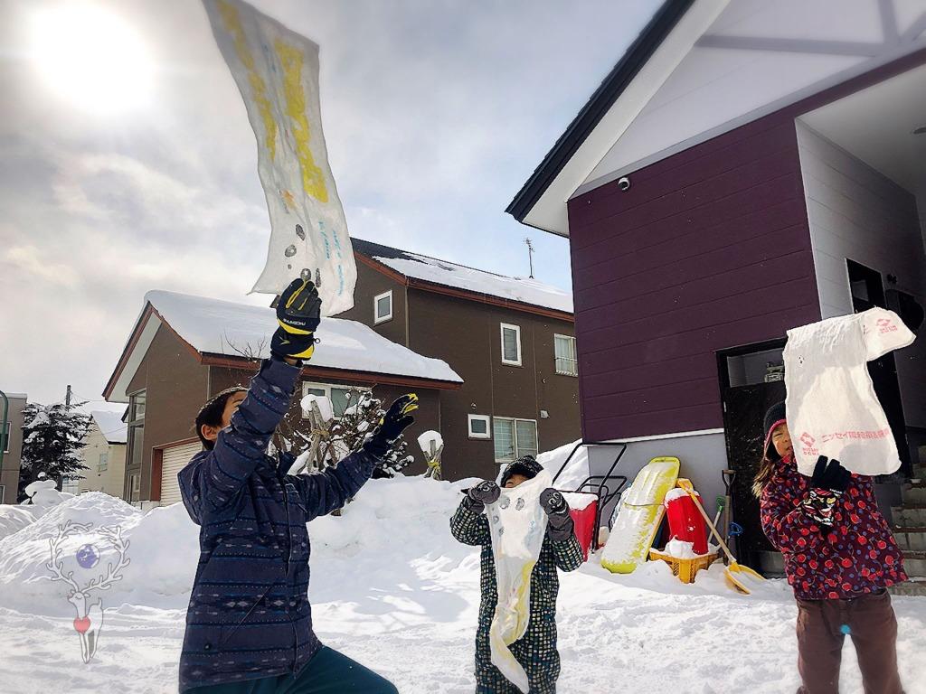 -7℃でもタオルは凍るのか!? -氣温、寒くてもできる外遊びアクティビティー 幼児、小学生。地球まるごと遊び場に