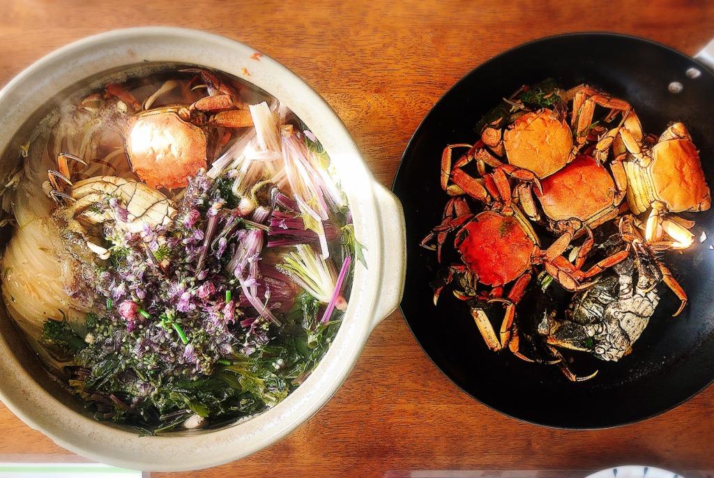 高級食材モクズガニ 上海ガニの近縁種で酒蒸し、鍋。北海道 地球まるごと遊び場に